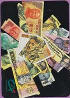 Calendrier °° 1991 -  Banque C.A - Billets étrangers - 8x11 - Calendarios