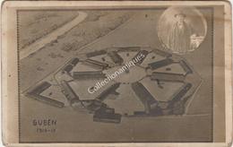 Photographie Vue Aérienne Du Camp De Prisonnier De Guben 1916-1917 Avec Vue D'un Déporté En Encart - War, Military