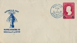 1953 FILIPINAS / PHILIPPINES , ENTERO POSTAL NO CIRCULADO , GATEWAY TO THE EAST , PHILIPPINES INTERNATIONAL FAIR - Filipinas