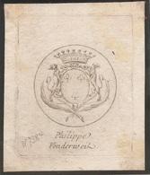 Ex-libris Jacques-Philippe-Joseph Von Der WEID (1730-1801). Fribourg. - Ex Libris