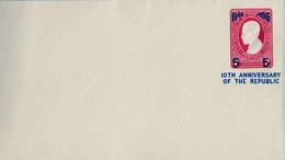 1956 FILIPINAS / PHILIPPINES , ENTERO POSTAL NO CIRCULADO , 10TH. ANNIVERSARY OF THE REPUBLIC - Filipinas
