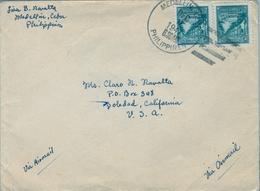 1947 FILIPINAS / PHILIPPINES , SOBRE CIRCULADO , MEDELLIN - SOLEDAD ( CALIFORNIA ) , CORREO AÉREO - Filipinas