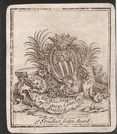 Ex-libris Gabriel-Jean-Joseph, Baron De REYNOLD (†1769). Fribourg. - Ex Libris