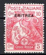 ERYTHREE (Colonie Italienne) - 1916 - N° 41 - 10 C. + 5 C. Rose - (Croix-Rouge) - Eritrea