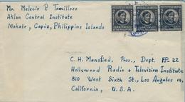 1948 FILIPINAS / PHILIPPINES , SOBRE CIRCULADO , MAKATO - LOS ANGELES - Filipinas