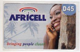 GAMBIE RECHARGE GSM AFRICEL D45 Bringing People Closer - Gambie