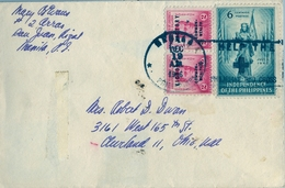 1946 FILIPINAS / PHILIPPINES , SOBRE CIRCULADO , MANILA - OHIO - Filipinas