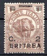 ERYTHREE (Colonie Italienne) - 1922 - N° 54 - 2 C. S. 1 B. Brun - (Timbre De Somalie Italienne De 1906) - Eritrea