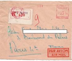 LSC 1951 - EMA 35 Frs - Recommandé Et Cachet POINTE NOIRE - A.E.F. (1936-1958)