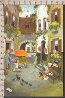 PB108/ Marie-Louis BATARDY, Artiste Belge, *Rue Du Printemps* - Peintures & Tableaux