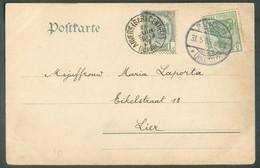 5pfg Germania Obl. Dc RINGEN Sur C.P. Du 31.5.1905 Vers La Belgique, Affr. Compléméntaire Belgique N°53 (1 Centime) Obl. - Briefe U. Dokumente