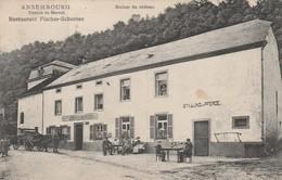 Ansemburg ,  Ansembourg , ( Canton De  Mersch ) ,Restaurant Fischer - Schenten ; Ruines Du Chateau,( P.Houstraas ,n° 745 - Cartes Postales
