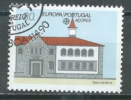 Portugal Açores YT N°399 Europa 1990 Batiments Postaux Oblitéré ° - Europa-CEPT