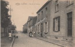 CPA Saintes Rue De La Station Préaux Aghlin - Tubize