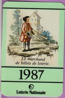 Calendrier °° 1987 -  Loterie Nationale - Marchand De Billets - 6x9 - Calendriers