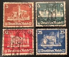 Deutsches Reich 1935 Ostropa 576-579 Gestempelt  (bloc Schiffpost Château Moyen Age Medieval - Allemagne