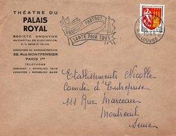LSC 1965 - Entête THEATRE DU PALAIS ROYAL - Flamme Et Cachet Paris Sur YT 1353A - Marcofilia (sobres)