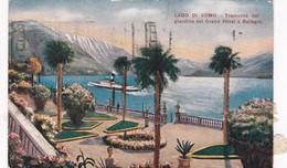 1925 CPA- LAGO DI COMO, TRAMONTO DAL GIARDINO DEL GRAND HOTEL A BLLAGIO. CIRCULEE A BUENOS AIRES. BANDELETA PARL - BLEUP - Como