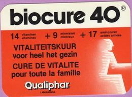 Calendrier °° 1986 - Labo - Biocure 40 . Qualiphar - 6x9 - Calendriers