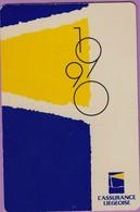 Calendrier °° 1990 -  L'Assurance Liégeoise - 6x9 - Calendriers