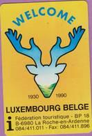 Calendrier °° 1990 -  Fédé - Belgique Touristique - Welcome - 6x9 - Calendriers