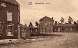 Grand-Reng  Station Location Autos Circulé En 1911 - Erquelinnes