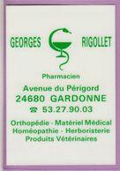 Calendrier °° 1994 -  Pharma 34 - Rigollet - 7x10 - Plastifié - Calendriers