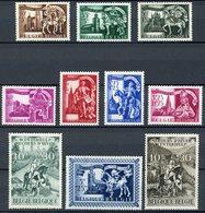 BELGIQUE 1943 /1944 N° 631 à 640 ** (MNH) Sauf 639 * (MH). - Belgien