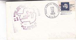 1973 COVER US NAVAL SUPORT SOUTH POLE DEEP FREEZE - BLEUP - Expediciones Antárticas