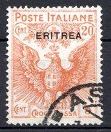 ERYTHREE (Colonie Italienne) - 1916 - N° 43 - 20 C. + 5 C. Oranger - (Croix-Rouge) - Eritrea