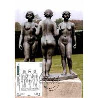 CM Baudry - Aristide Maillol, Les Trois Nymphes - 04/11/11 Paris - Maximum Cards
