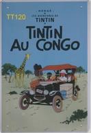 Kuifje/Tintin (TT120) Au Congo Metalen Plaat/plaque De Métal/tin Sign 30 X 20 Cm - Plaques En Tôle (après 1960)
