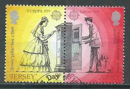 Jersey YT N°188/189 Europa 1979 Histoire Des Postes (Dentelé 14) Oblitéré ° - Europa-CEPT