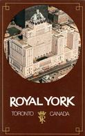 Canadian Pacific C.P.R. Royal York Hotel - Toronto Ontario Canada - Unused - VG Condition - 2 Scans - Hotels & Restaurants