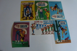 6 Stickers - Autocollants Lucky Luke Publiciteit Jeans Salik - Autocollants