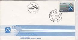 1980 FDC COVER BRESIL- INAGURAÇAO DO CENTRO DE PESQUISAS E DESENVOLVIMENTO DA TELEBRAS - BLEUP - Telecom