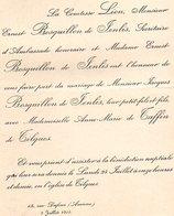 Mariage 1905 Marie De Taffin De Tilques & Jacques Bosquillon De Jenlis Lion Amiens Taffin De Broeucq St Omer 1 Feuille - Mariage