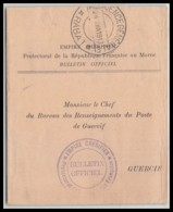 6889 Résidence Générale De France Bulletin Officiel Du Protectorat 1913 Rabat Pour Guercif Lettre France Guerre Maroc - Storia Postale