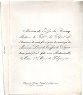 Mariage 1905 Marie D'Abzac De Falgueyrac & Louis De Taffin De Tilques Château De Hocquet Le Bugue Dordogne - Mariage