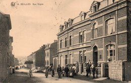 Seilles   Rue Vigna Super Animée Circulé En 1925 - Andenne
