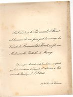 Mariage 1906 Mathilde De Rougé & De Bonnault D'Houet La Basilique De St Clotilde Paris 1 Feuille - Mariage