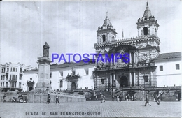 114956 EQUATOR QUITO PLAZA DE SAN FRANCISCO POSTAL POSTCARD - Ecuador