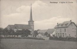 Noerdange , L'église Et L'école ,  ( Martelange , Luxembourg ) ( Edit : P.Houstraas ,n° 859 )  RARE - Cartes Postales