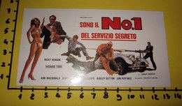 SONO IL N.1 DEL SERVIZIO SEGRETO CINEADESIVO STICKER VINTAGE NEW - Cinema Advertisement