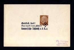 2640-GERMAN EMPIRE-Third Reich.MILITARY PROPAGANDA COVER Lichlowitz.1938.WWII.DEUTSCHES REICH.Brief. - Germany