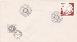 1981 SPECIAL COVER BRESIL- 72 CONVENSAO DO ROTARY CLUB - BLEUP - Rotary, Club Leones