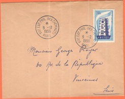 FRANCIA - France - 1956 - 30F Europa Cept + Special Cancel XXIIIeme Exposition Philatélique Des Cheminots - Viaggiata Da - Francia