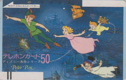 Télécarte Ancienne Japon / 110-3928 - DISNEY - PETER PAN & FEE CLOCHETTE - Japan Front Bar Phonecard / A - Balken TK - Disney