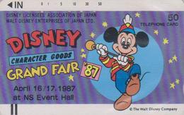 Télécarte Ancienne Japon / 110-20879 - DISNEY Mickey Grand Fair 1987 - Japan Front Bar Phonecard Telefonkarte - Disney