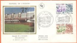 FRANCIA - France - 1981 - Conseil De L'Europe - FDC Soie - Strasboug - 1981